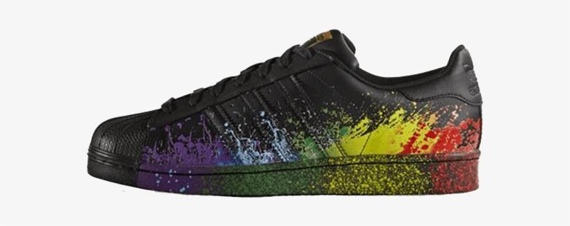 adidas superstar black colour