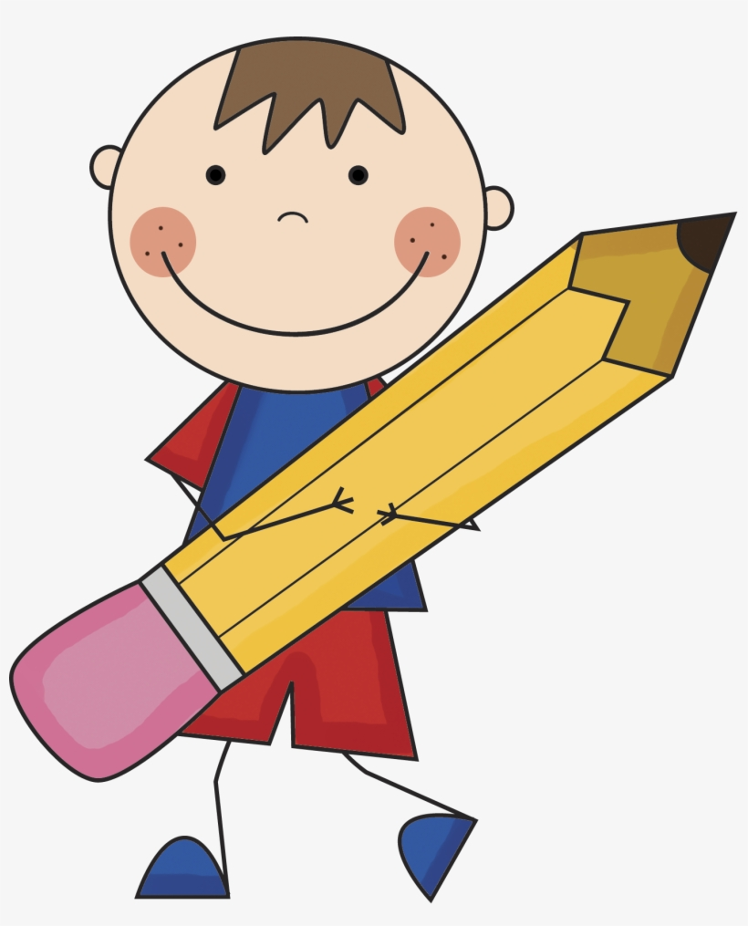 Notebook And Pencil Clipart Boy With Pencil Clipart Transparent