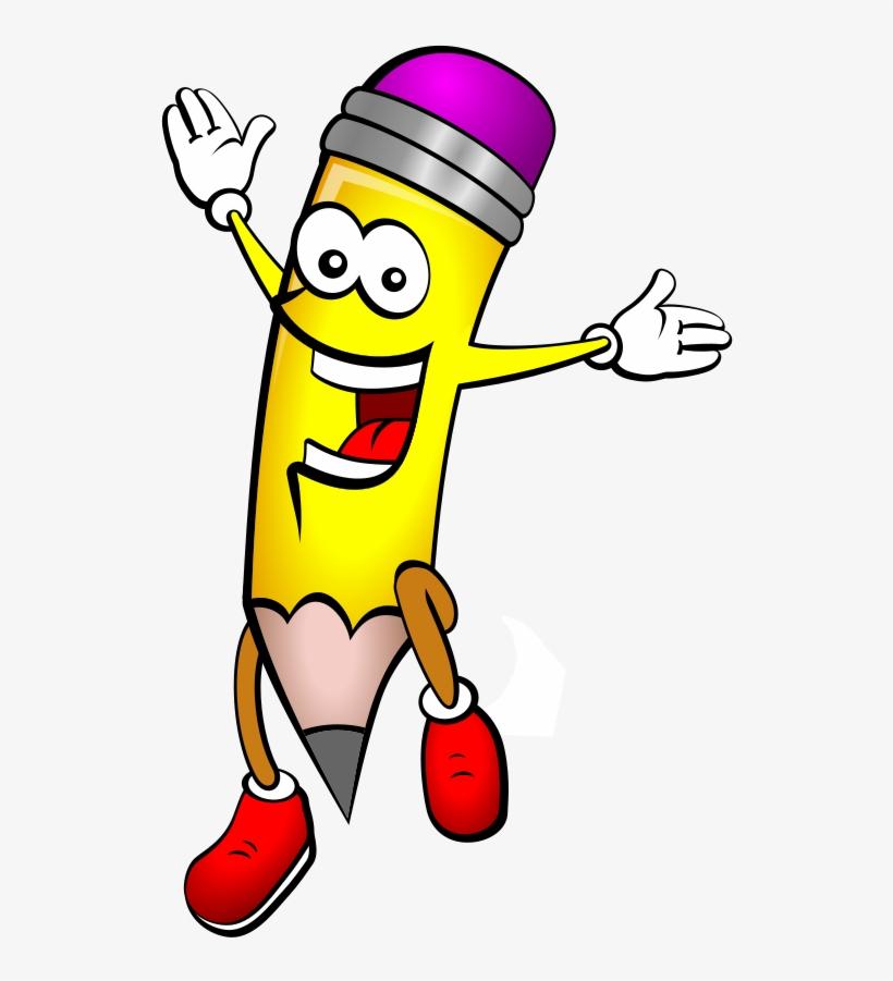 Happy Pencil Clipart - Cartoon Pencil Transparent PNG ... (820 x 901 Pixel)