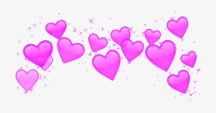 Crown Heart Hearts Emoji Emojis Splash - Crown Heart Emoji Png