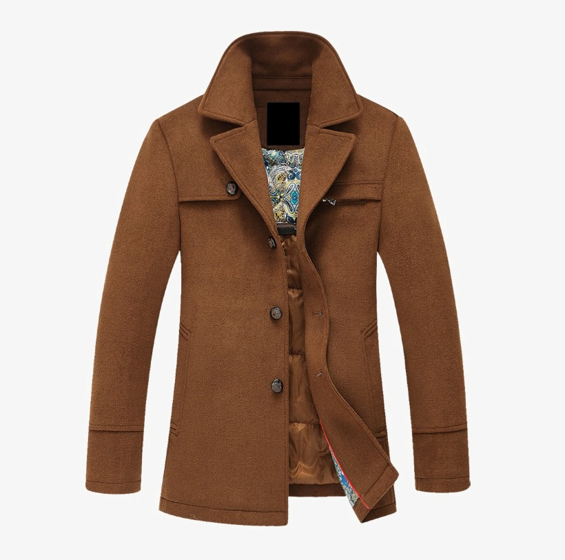 Pea Coat Png Photo Mens Brown, Mens Chocolate Brown Pea Coat