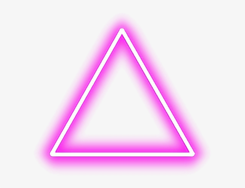 Triangle Pink Red Tumblr Shapes Glow Neon Pinktriangle Triangulo