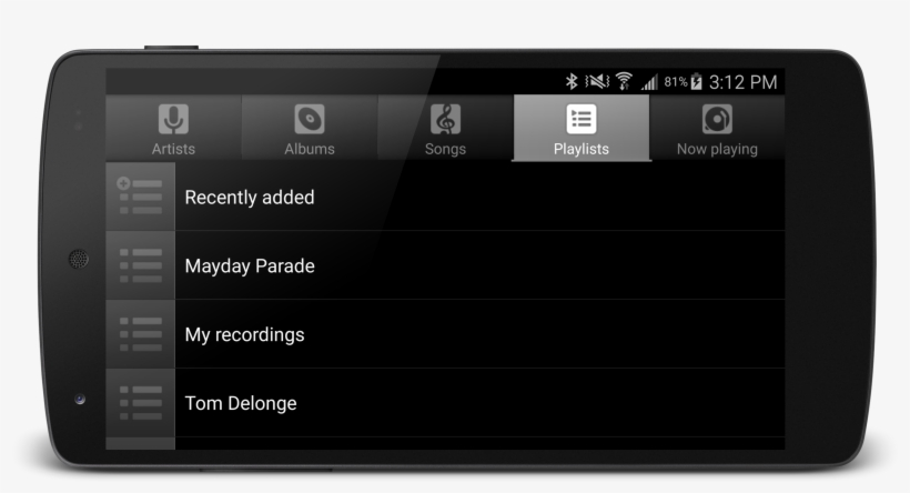Music Player Android Studio Player Playlist Transparent Png