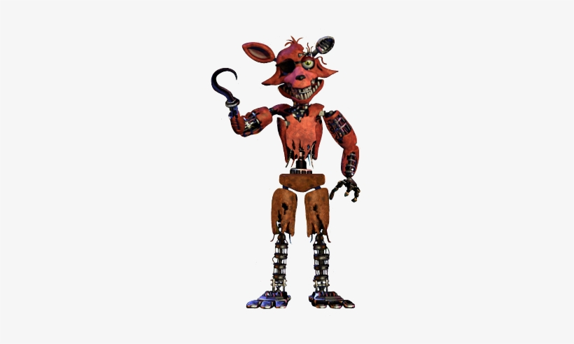 Withered Foxy Full Body Thank You Image Final Nights 4 Burnt Foxy Transparent Png 365x596 Free Download On Nicepng