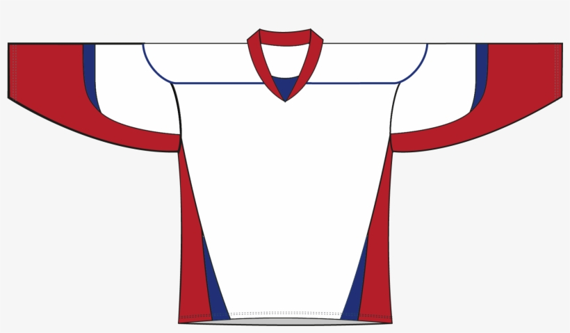 Hockey Jersey Clipart Red White And Blue Hockey Jersey Transparent