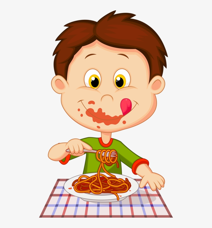 Personnages Illustration Individu Personne Boy Eating Spaghetti Clipart Transparent Png 518x800 Free Download On Nicepng