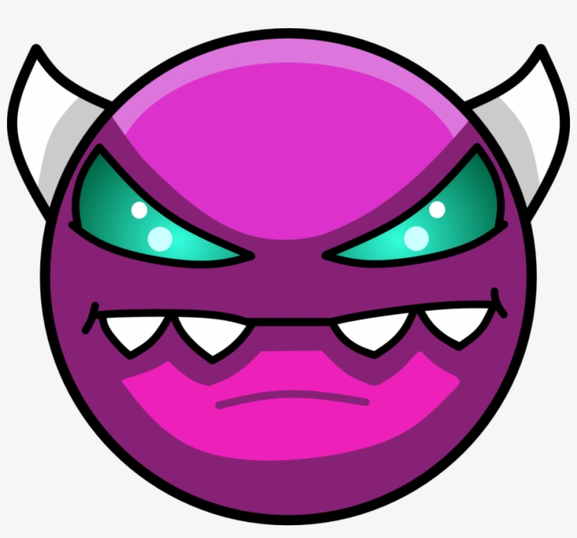 Geometry Dash Demon Face Transparent Png 951x840 Free Download