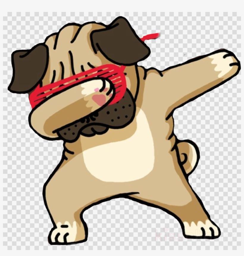 Dabbing Pug Funny Clipart Pug T-shirt Puppy - Pug Doing A Dab