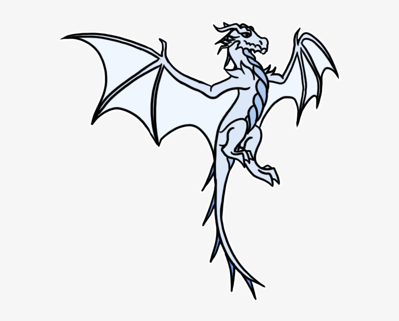 Wings Of Fire - Flying Ice Dragon Gif Transparent PNG