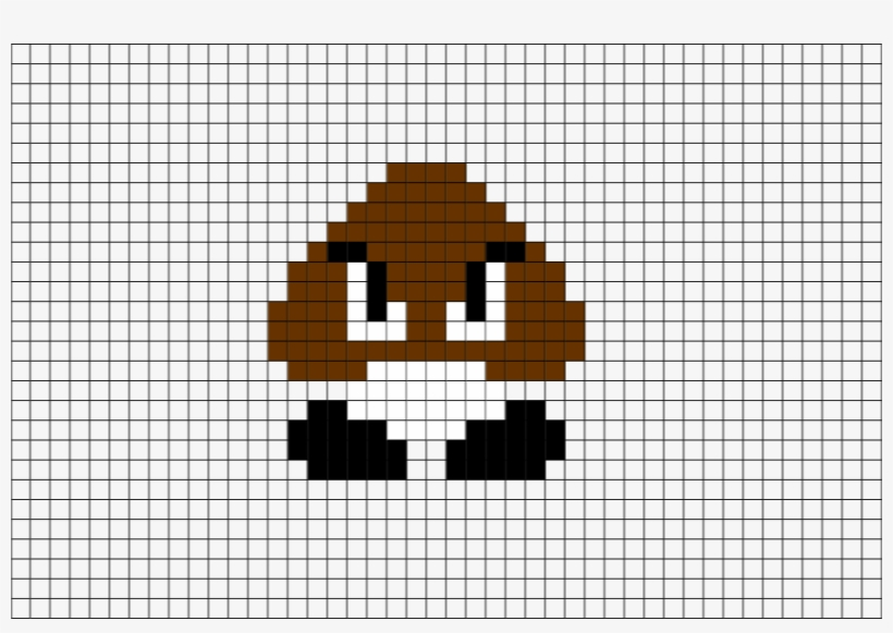 8 Bit Mario Pixel Art For Kids - Super Mario Bros Goomba Sprite