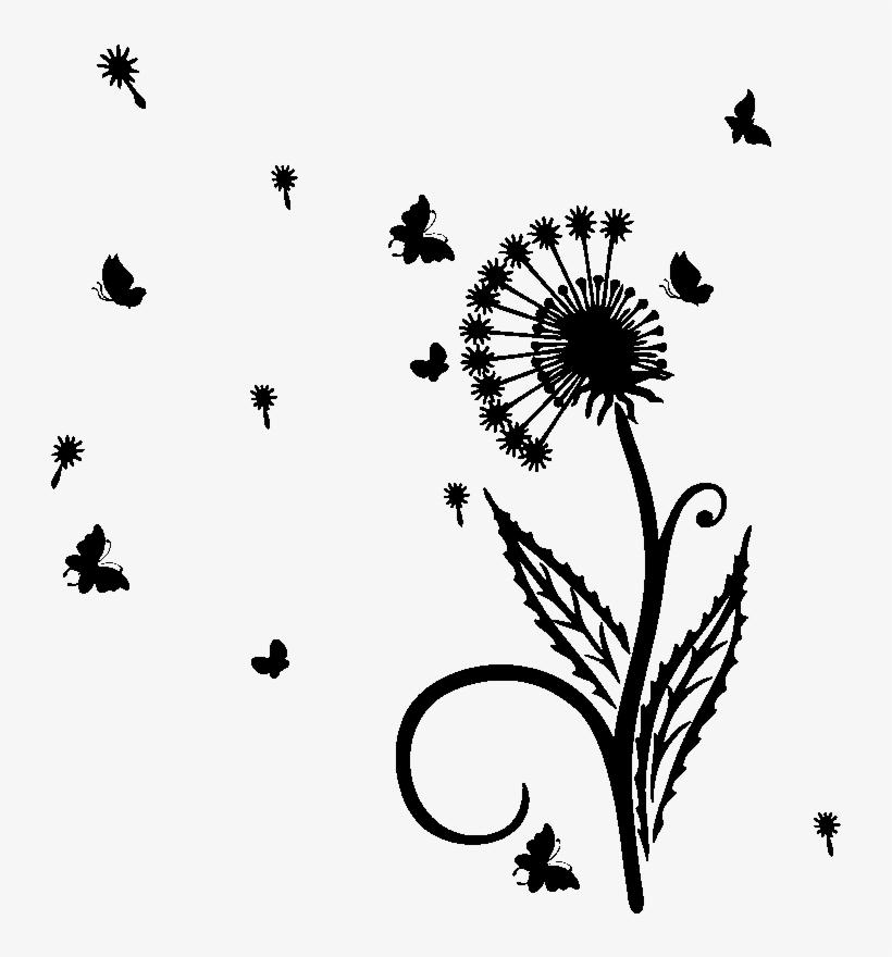 Sticker Fleurspapillons Et Petales Volantes Ambiance Dente De