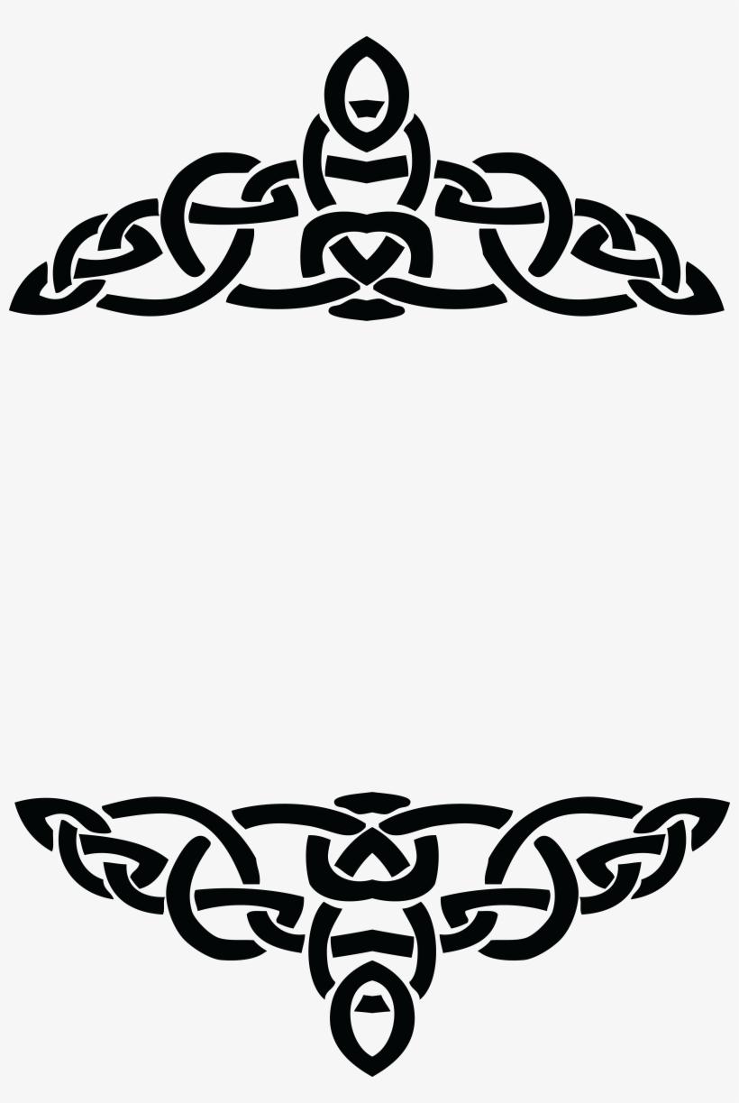 Free Clipart Of A Celtic Border Design Element In Black Border Design For Logo Transparent Png 4000x5774 Free Download On Nicepng