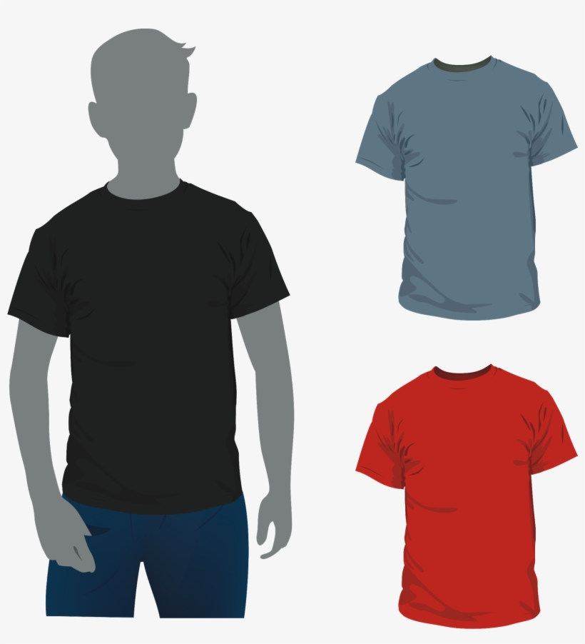 T Shirt Template Cdr Man With Vector