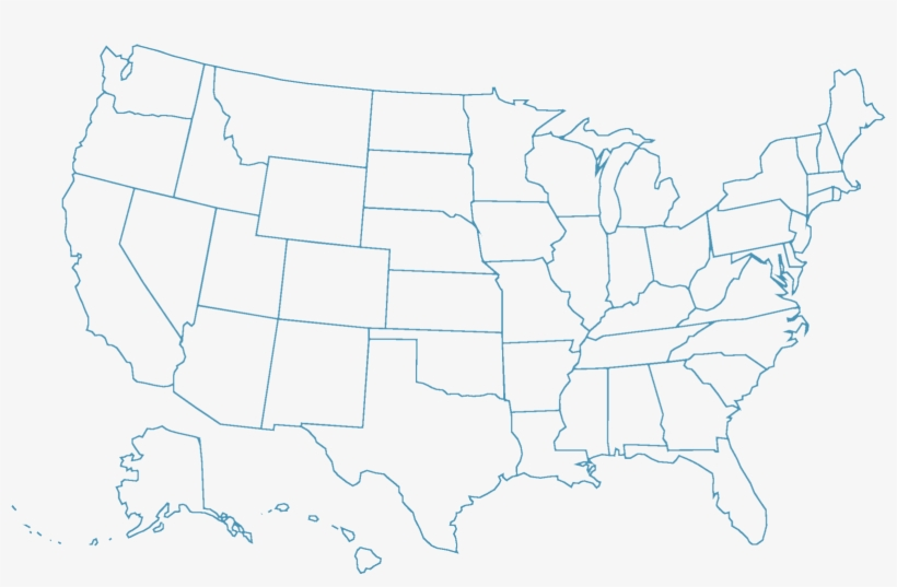 Map Outline Usa States Not Labeled Transparent Png 1600x1018 Free Download On Nicepng