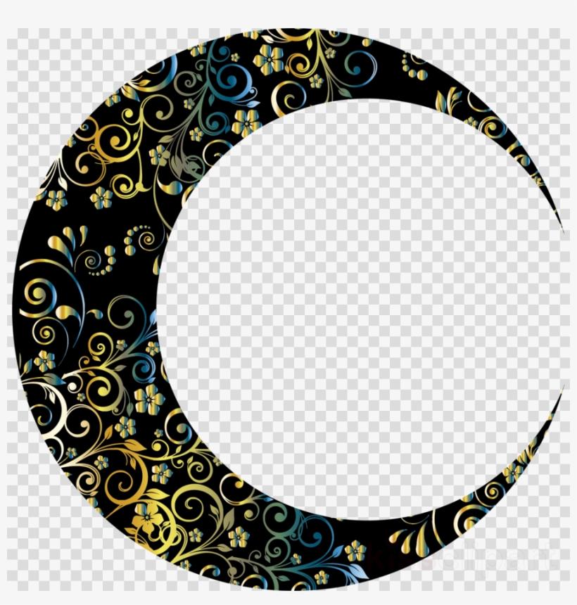 New Crescent Moon Clip Art - Blue Crescent Moon Clipart - Free Transparent  PNG Download - PNGkey