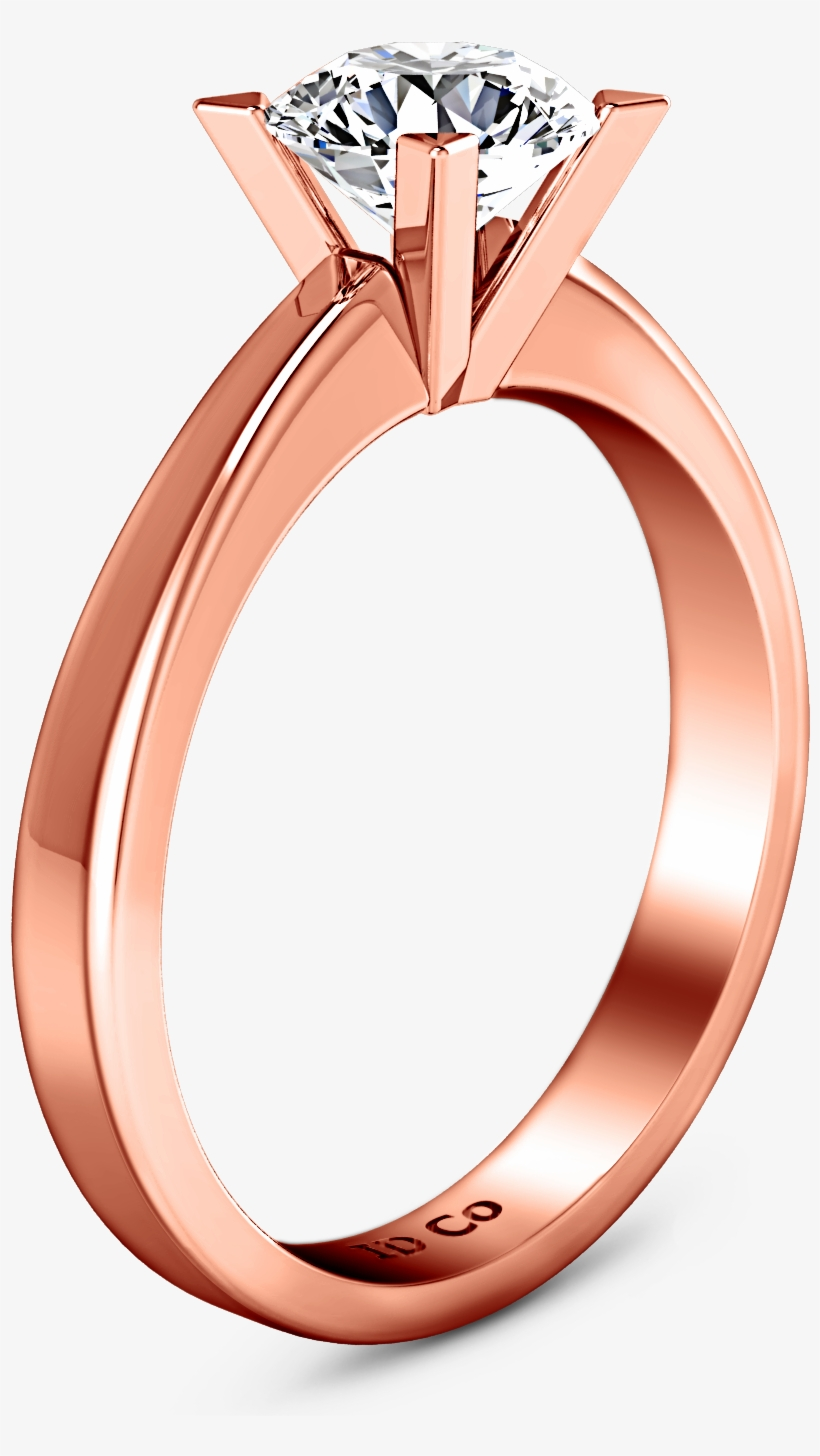 Solitaire Engagement Ring Icon 14k Rose Gold Engagement Ring