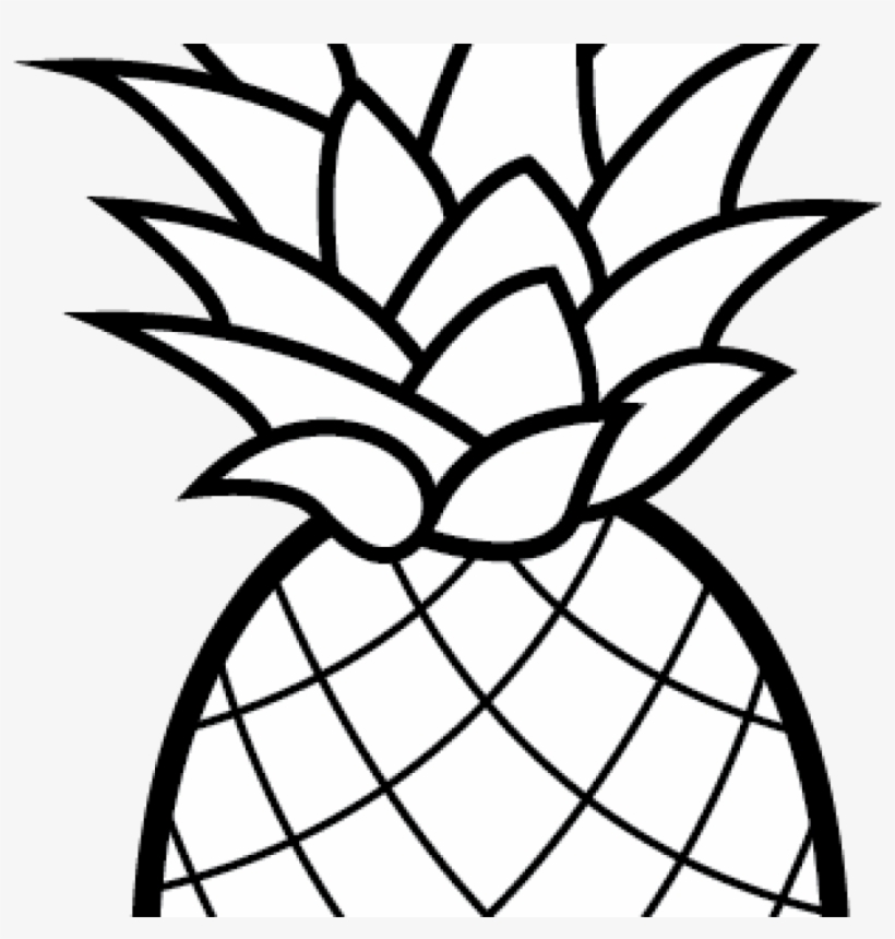 Pineapple Clipart Camping Clipart Cartoon Pineapple Coloring Pages