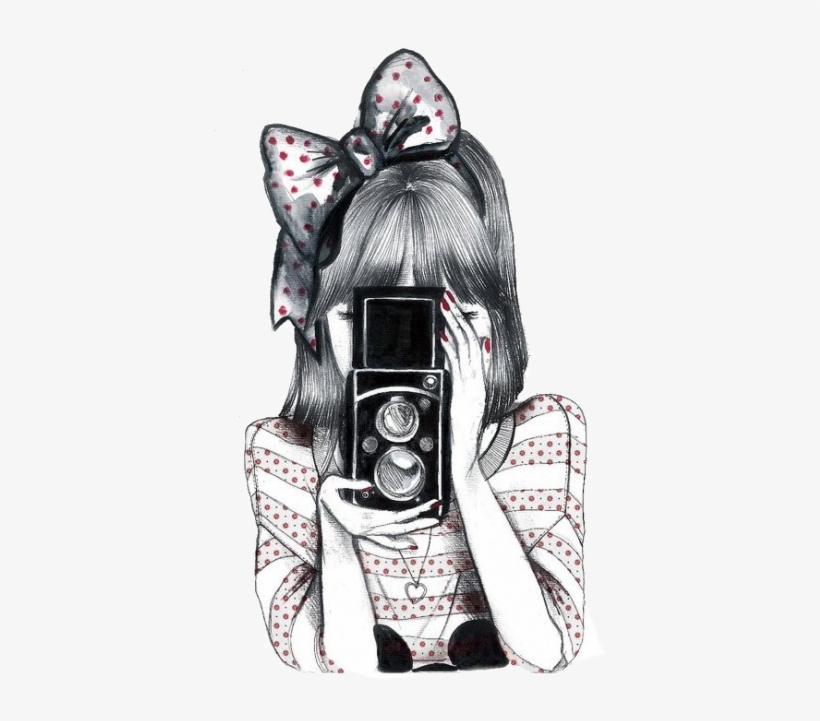 Imagens Fofas Tumblr Desenho Png Girl With Camera Drawing