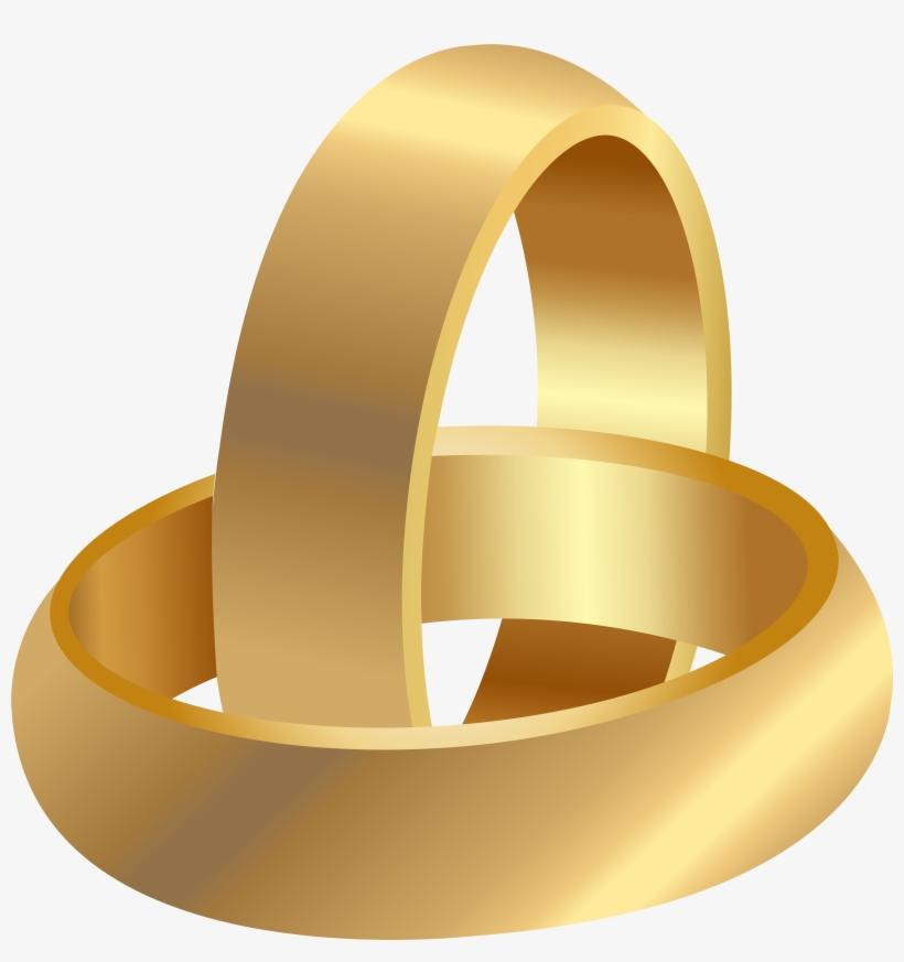 Free Png Golden Wedding Rings Png Images Transparent
