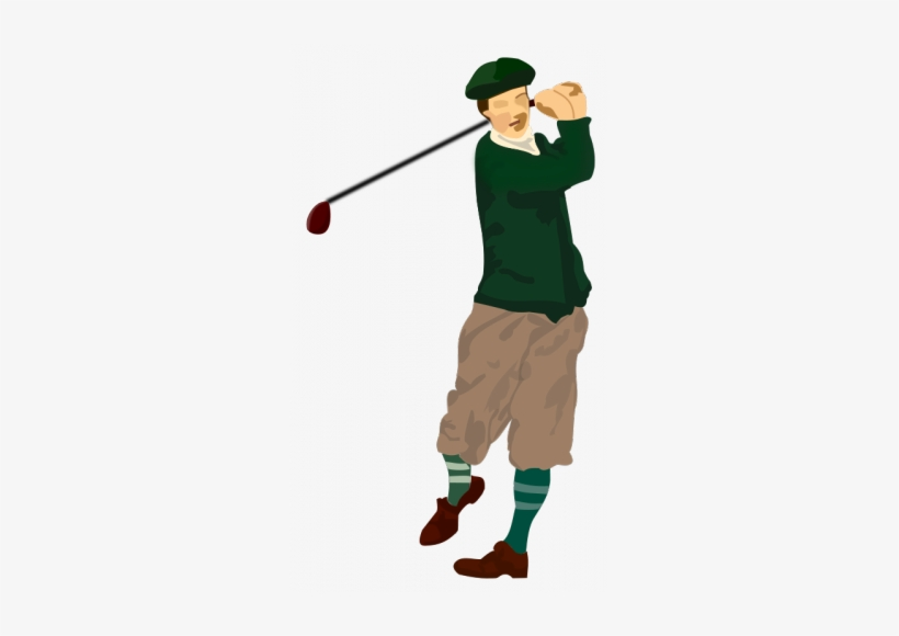 Golf watercolor. Golfer drawing player clipart