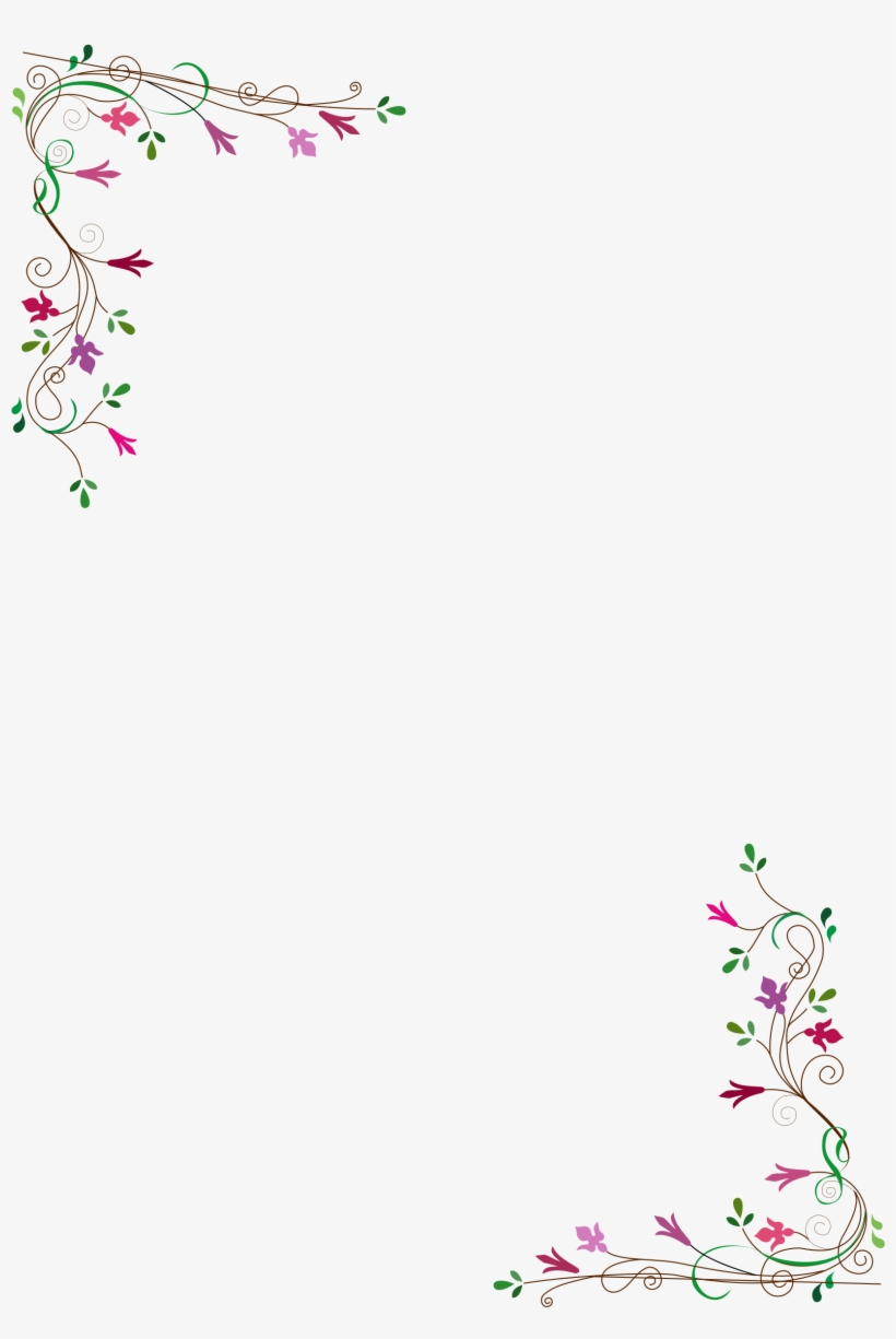 Vintage Flower Frame Vector Png - Country Patch Cafe