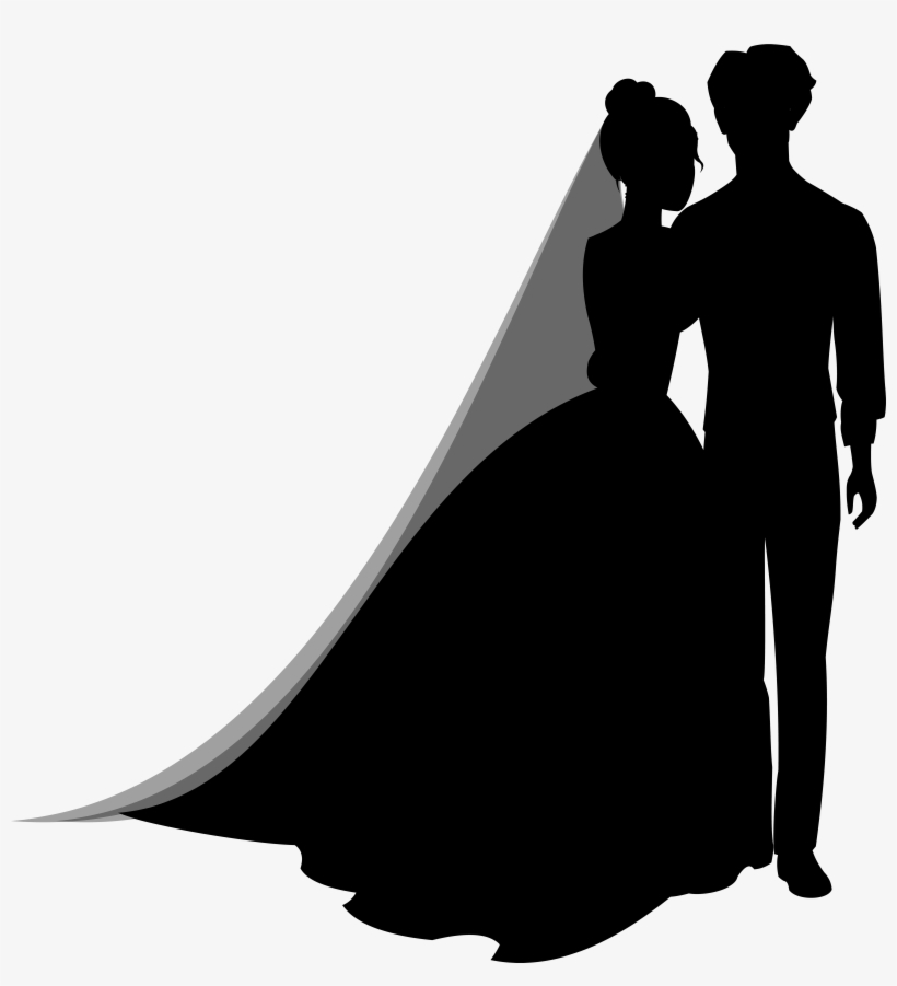 Wedding Couple Silhouettes Png Clip Art Wedding Couple Silhouette Png Transparent Png 6660x7000 Free Download On Nicepng
