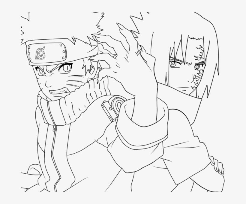 Naruto Sasuke Coloring Pages Naruto And Sasuke Drawing Transparent