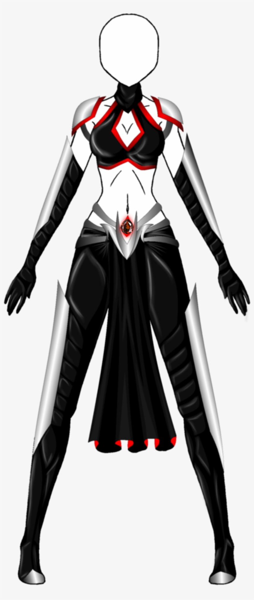 Robes Drawing Assassin Png Black And White Download Anime Female Assassin Outfit Transparent Png 1024x2274 Free Download On Nicepng