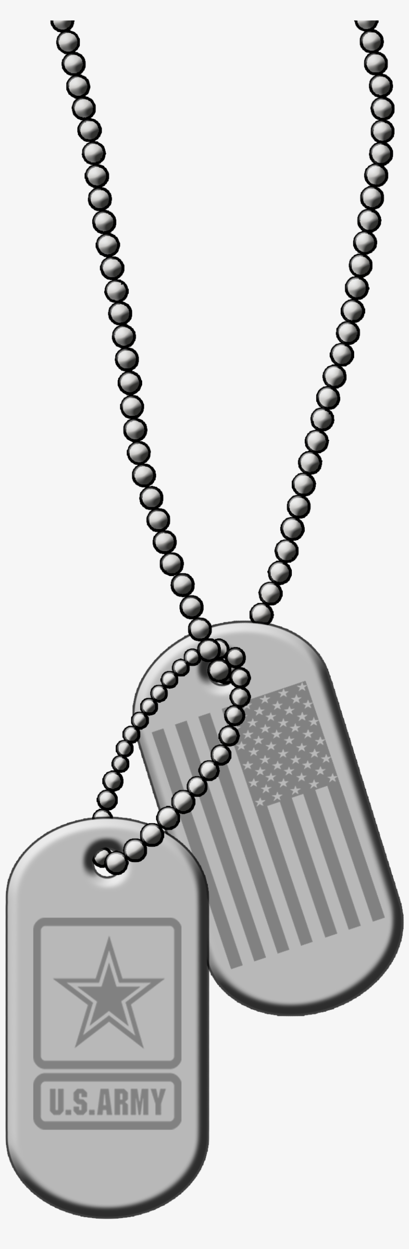 Id Dog Tags Silver Metal Png Clip Art Vector Us Army - Army