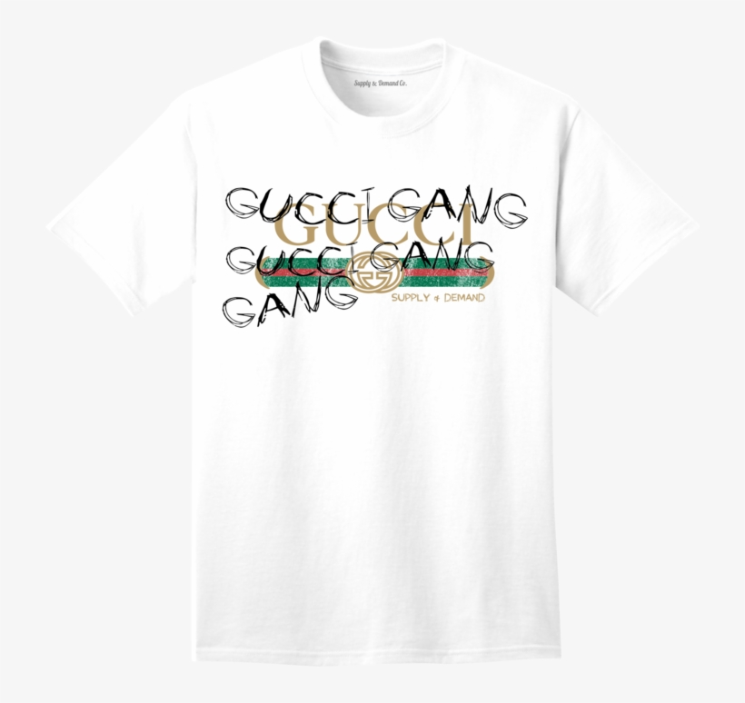 bfc2f8aff42 Supply   Demand-gucci Gang White Tee - Active Shirt Transparent PNG ...