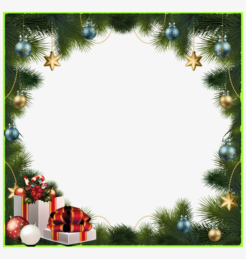 Marco Navidad Png Frame Christmas Ornaments Png Transparent Png