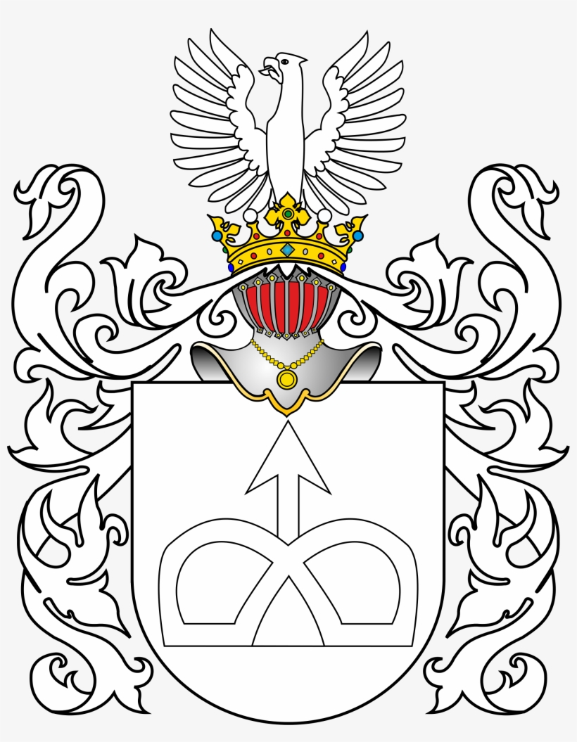 Open Family Crest Coat Of Arms Template Transparent Png