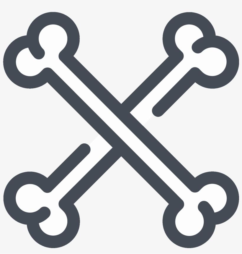 Crossbones Icon Halloween Bones Transparent Png 1600x1600 Free Download On Nicepng