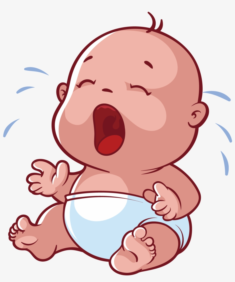 Infant Cartoon Crying Baby Crying Cartoon Png Transparent Png 1328x1527 Free Download On Nicepng