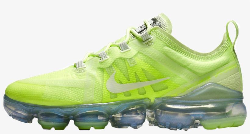 a606c98e57 Nike Air Vapormax 2019 Volt Glow - Nike Transparent PNG - 1600x901 ...