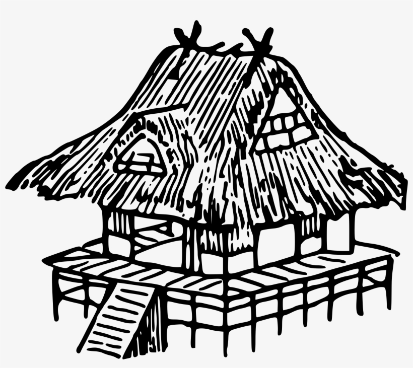 Clipart Freeuse Download Japanese House Drawing At Nipa Hut House