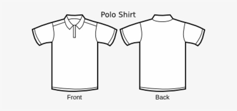 Collar T Shirt Template Png