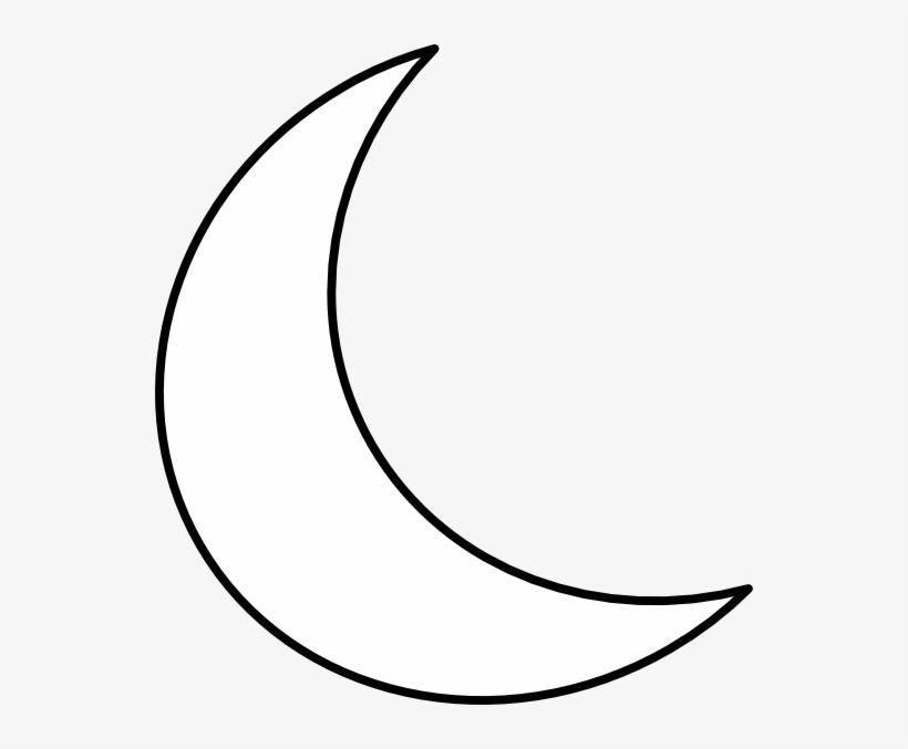 b0df4093b Crescent Shape Clip Art At Clker - White Crescent Moon Transparent ...