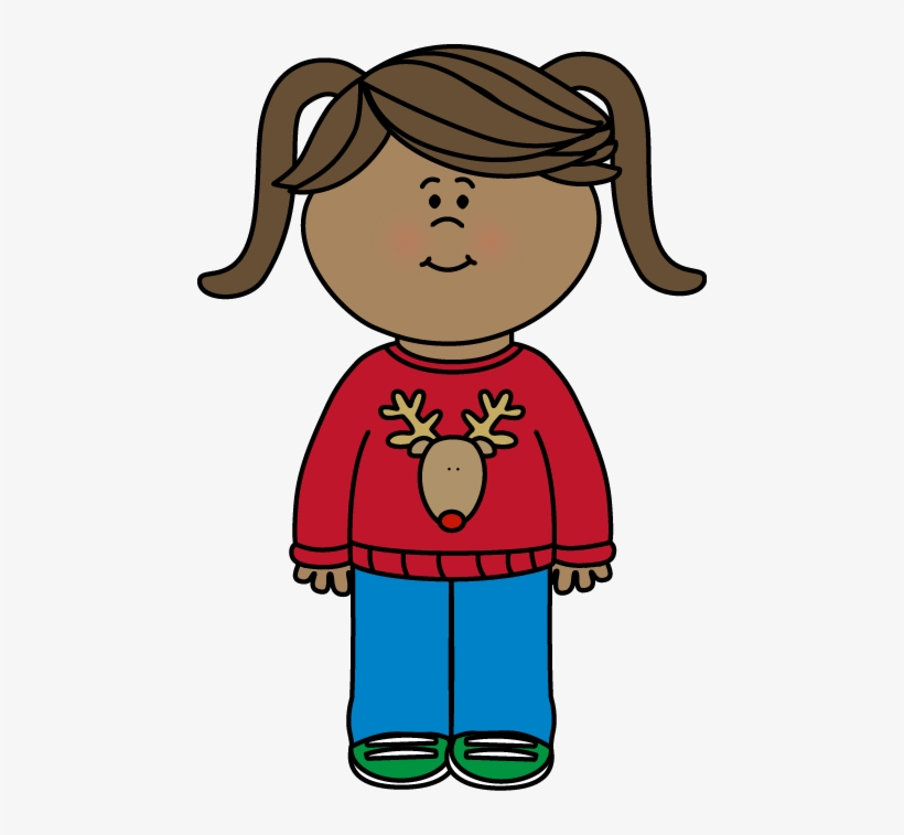 free christmas sweater clip art from mycutegraphics clipart black