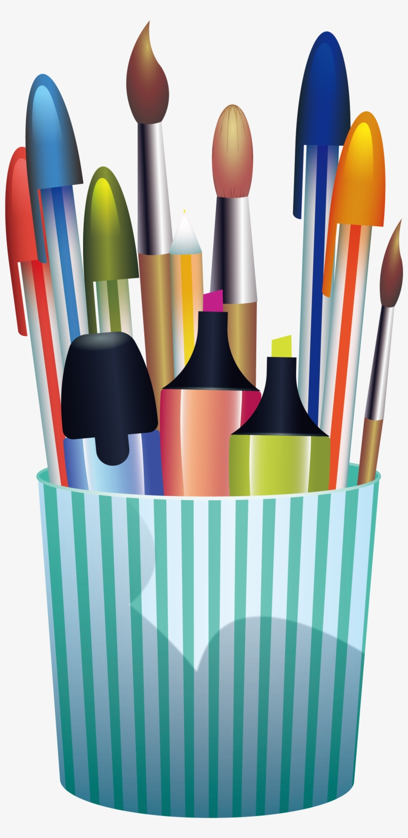 pencil clip art green stripe pen container pencil transparent png 2341x3459 free download on nicepng pencil clip art green stripe pen