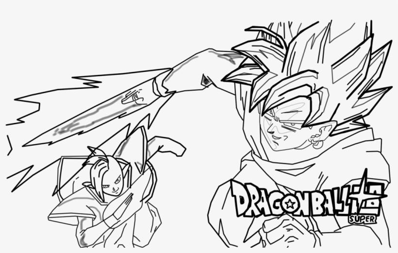 Black Goku Y Zamasu Dragon Ball Z Transparent Png