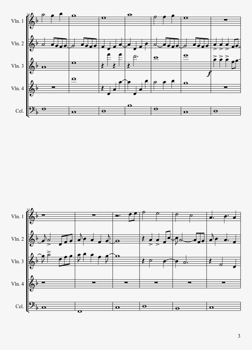 Overture Sheet Music Composed By Jinxx 3 Of 5 Pages