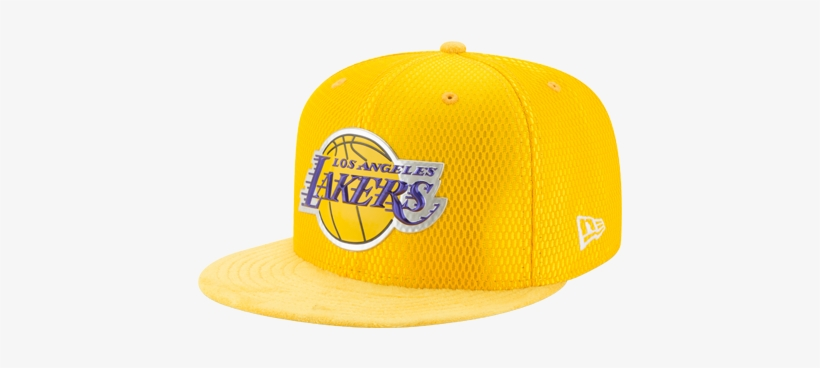 b07dbf3a534a5 Los Angeles Lakers 59fifty On Court Reverse Lux Mesh - New Era Nba 59fifty  On Court Cap - Mens Yellow Size