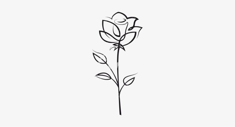 Rose Outline Rose Flower Outline Icons By Canva Png - Rose@nicepng.com