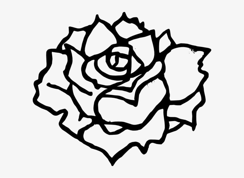 Simple Rose Outline Clip Art Download - Rose Vector Black And White Png Transparent PNG ...