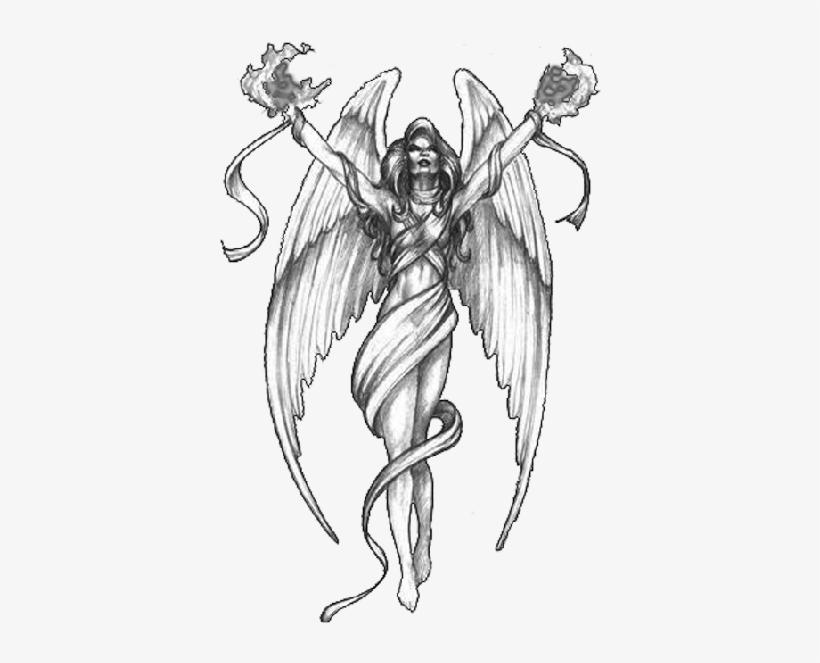 Guardian Angel Wings Tattoo On Back Female - Tattoo Ideas