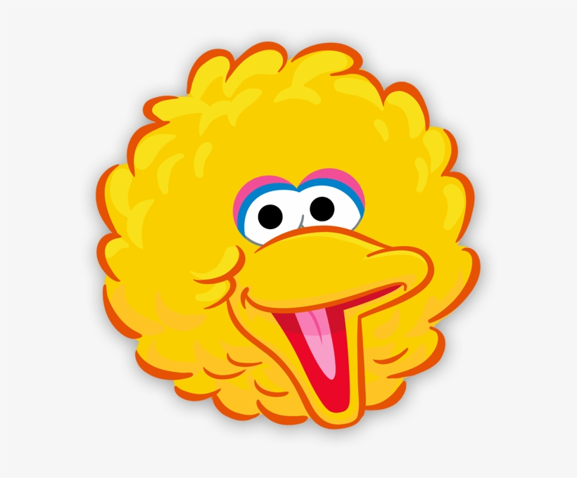 Yellow Bird Face Template Sesame Street Characters Rainbow
