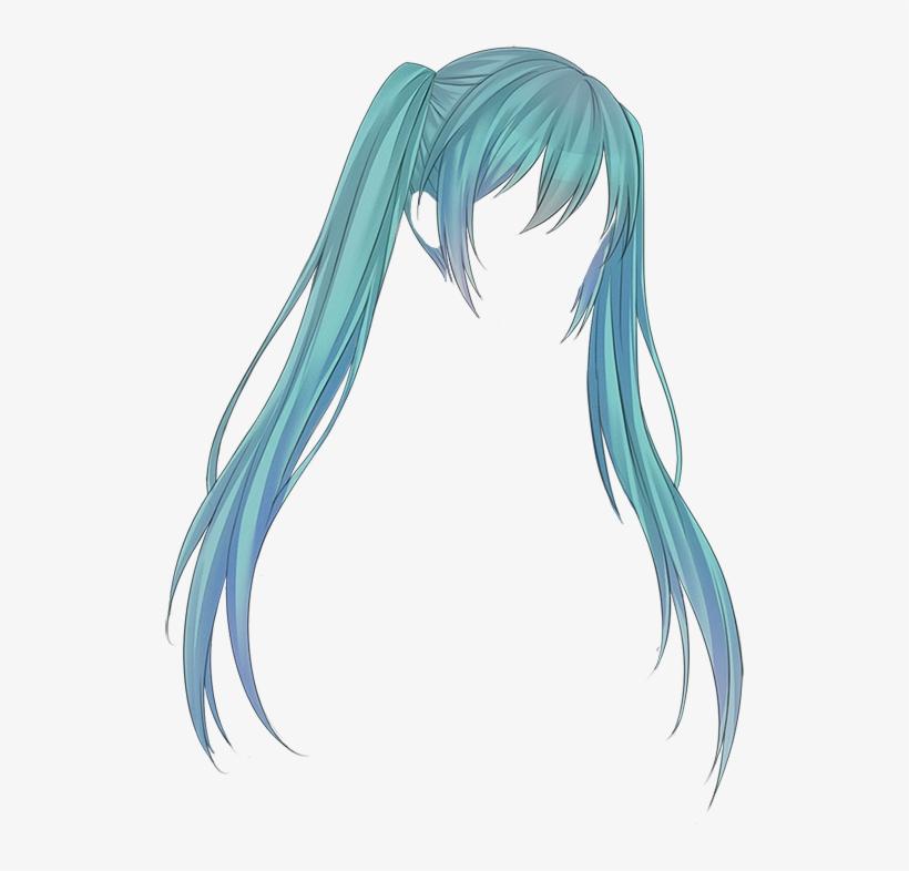 Hatsune Miku Hair Png Transparent PNG - 524x706 - Free