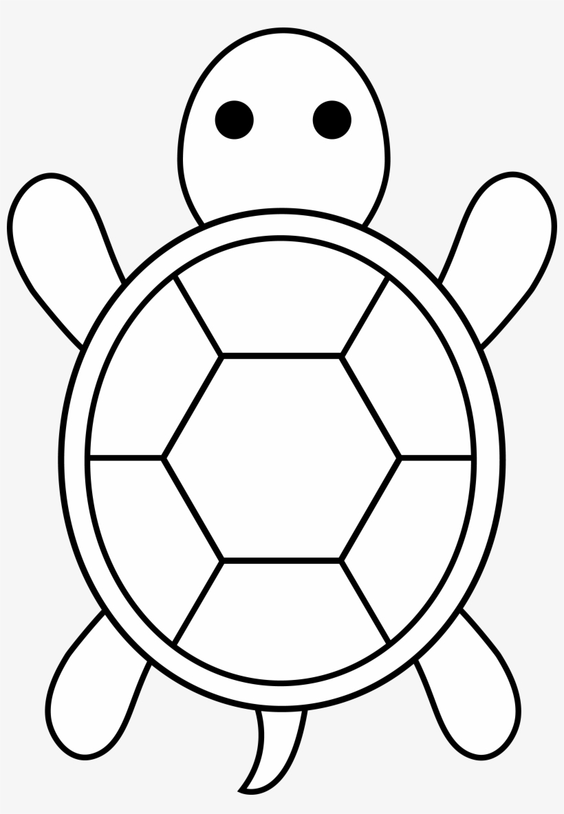 Sat Clipart Black And White - Sea Turtle Outline@nicepng.com