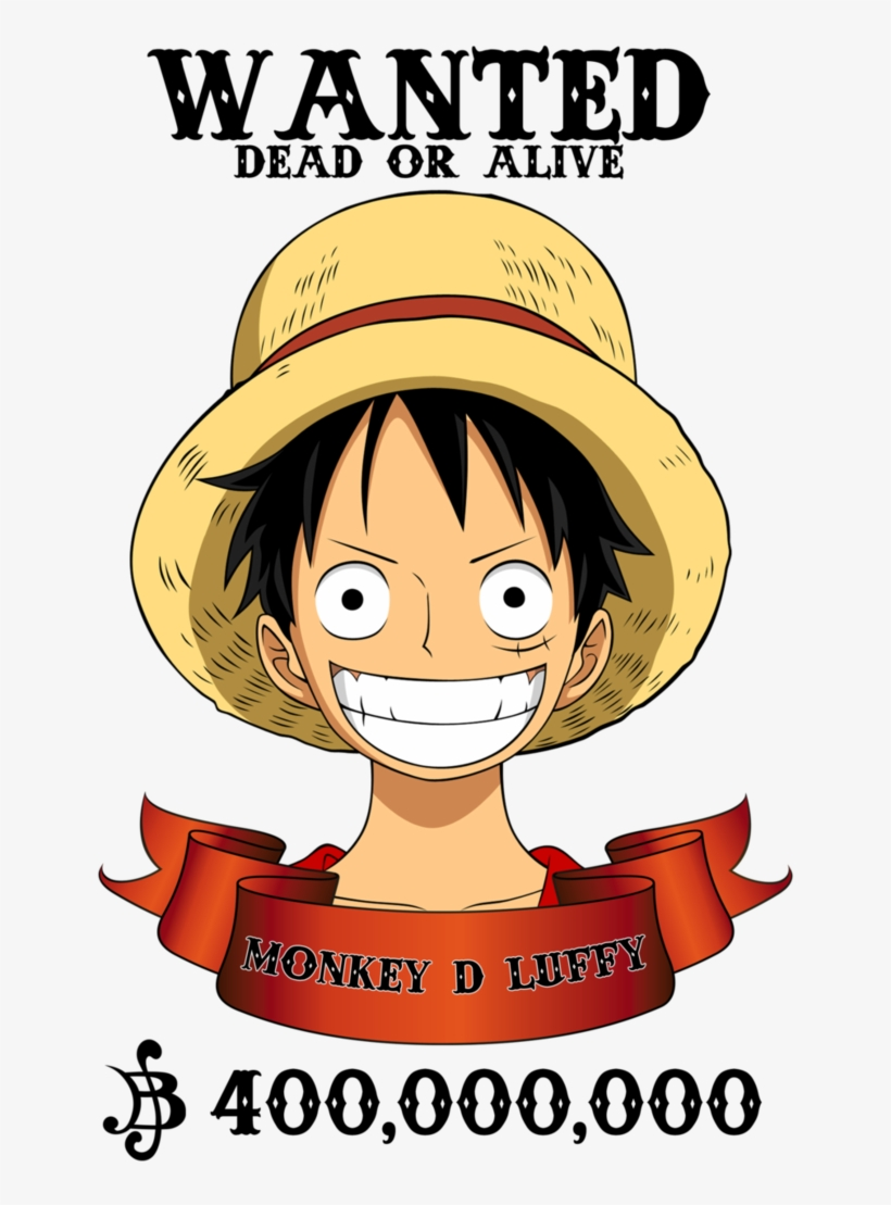 Luffy By Xxriddickxx On Deviantart Png Wanted Monkey D